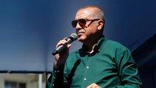 Erdoğan seçim şarkısını meydanda söyledi