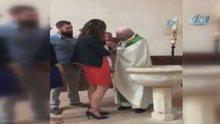 Rahipten bebeğe şoke eden tokat! Ülke ayağa kalktı...