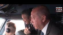 """Cumhurbaşkanı Erdoğan'ın """"TC-ANK"""" adlı uçağı yeni İstanbul havalimanına indi"""