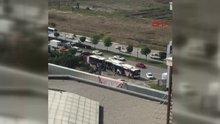 Ankara'da 2 EGO otobüsü çarpıştı