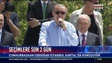 Cumhurbaşkanı Erdoğan Kartal'da