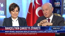 Bahçeli Habertürk TV, Show TV ve Bloomberg HT ortak yayınında soruları yanıtlıyor