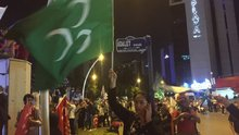 AK Parti Genel Merkezi önünde kutlamalar...