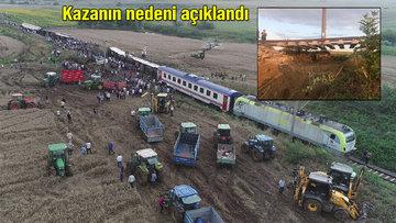 Tekirdağ'da yolcu treni devrildi! 10 ölü, 73 yaralı! Olay yeri havadan görüntülendi