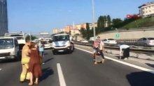 TEM'de trafiği felç eden kaza!