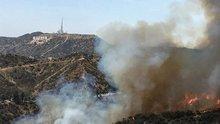 Dünyaca ünlü Griffith Park'ta yangın çıktı