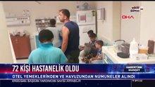 72 kişi hastanelik oldu