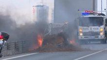 15 Temmuz Şehitler Köprüsü'nde araç yangını