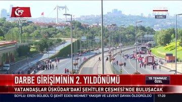 Vatandaşlar 15 Temmuz Şehitler Köprüsü'ne akın ediyor
