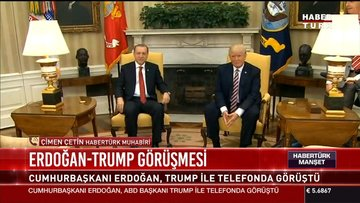 Erdoğan-Trump görüşmesi