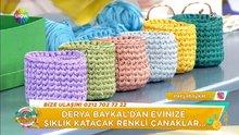Evlerinizi süsleyecek renkli çanak yapımı!