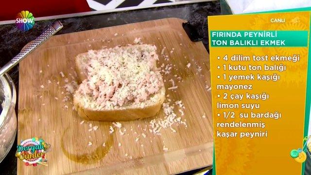 Fırında Peynirli Ton Balıklı Ekmek