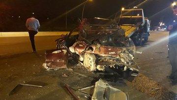 Başkent Ankara'da trafik kazası: 1 ölü, 4 yaralı