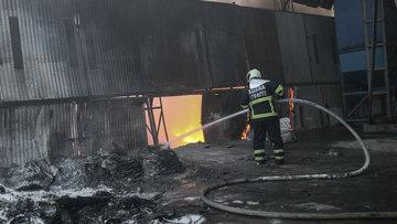Adana'da geri dönüşüm tesisinde yangın çıktı
