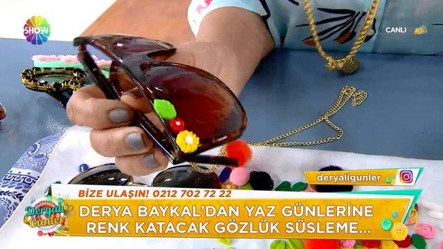 Derya Baykal'dan gözlük süsleme!