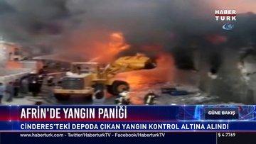 Afrin'de yangın paniği