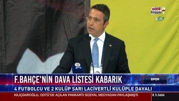 Fenerbahçe'nin dava listesi kabarık
