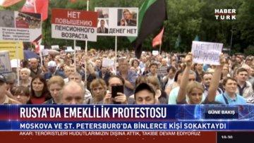 Rusya'da emeklilik protestosu