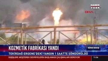 Kozmetik fabrikası yandı
