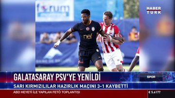 Galatasaray PSV'ye yenildi