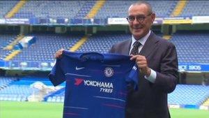 İtalyan teknik adam Maurizio Sarri Chelsea'de