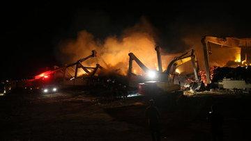Şanlıurfa'da iplik fabrikasında yangın
