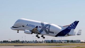 'Uçan Balina' gökyüzünde! Airbus Beluga XL ilk uçuşunu gerçekleştirdi