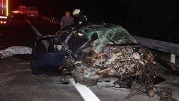 TEM otoyolu Düzce kesiminde kaza: 1 ölü, 1 yaralı