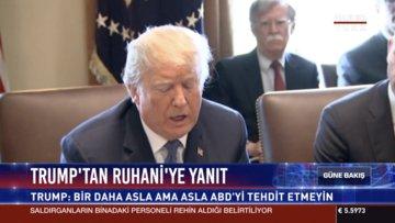 Trump'tan Ruhani'ye yanıt