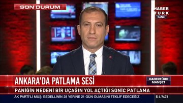 Ankara'daki patlama sesinin nedeni