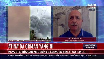 Atina'da orman yangını