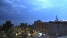 Tekirdağ'da şimşekler gökyüzünü böyle aydınlattı