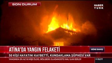 Atina'da yangın felaketi