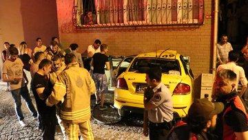 Beşiktaş'ta ilginç kaza! Taksi yatak odasına girdi
