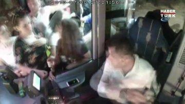 Öfke krizi geçiren otizmli gence otobüs sürücüsünden örnek müdahale kamerada