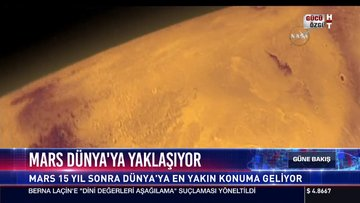 Mars Dünya'ya yaklaşıyor