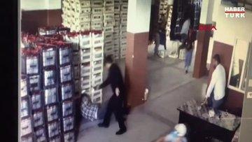 Samsun'da cinayet... Dehşet anı kamerada