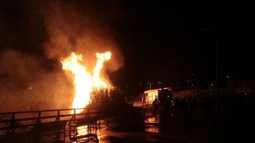 Mogan Gölü kıyısında korkutan yangın