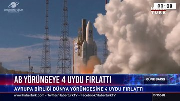 AB yörüngeye 4 uydu fırlattı