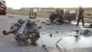 Kuzey Marmara Otoyolu'nda feci kaza! 1'i ağır 2 kişi yaralandı