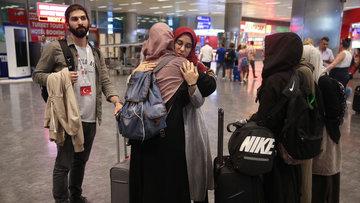 Kudüs'e alınmayan vatandaşlar Türkiye'ye döndü