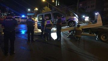 Önce kırmızı ışık ihlali yaptı sonra polis aracına çarptı