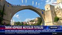 Tarihi köprüde nefesler tutuldu