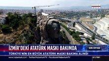 İzmir'deki Atatürk Maskı bakımda