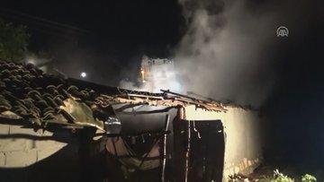 Silivri'de korkutan samanlık yangını!
