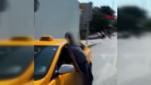 İstanbul'da taksi sürücüsünün korkutan görüntüsü