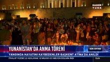 Yunanistan'da anma töreni