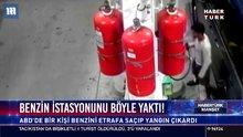 Benzin istasyonunu böyle yaktı!