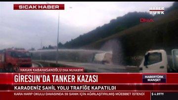 Giresun'da tanker kazası
