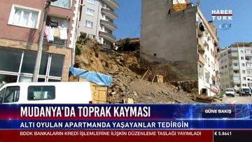 Mudanya'da toprak kayması